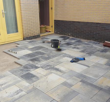 Aanleggen patio Hilversum   Klusbedrijf Gouda